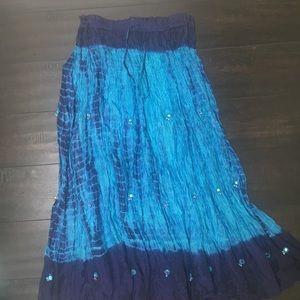 Dresses & Skirts - Turquoise Indian Skirt